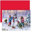 Jam® Peace and Joy Christmas Card Set With 18 Cards and Envelopes, Winter Fun