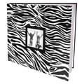 Multicraft Imports Patterned Post Bound Album, 12in. x 12in., Zebra