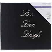Multicraft Imports Words To Live By Post Bound Album, 12 x 12, Black Live, Love, Laugh