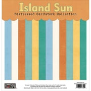 "Paper Loft Island Sun Cardstock, Distressed Solids, 12"" x 12"""