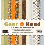"Paper Loft Gear Head Cardstock, Patterned, 12"" x 12"""