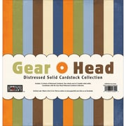 Paper Loft Gear Head Cardstock, Distressed Solids, 12 x 12