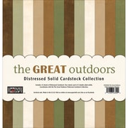 Paper Loft The Great Outdoors Cardstock, Distressed Solids, 12 x 12