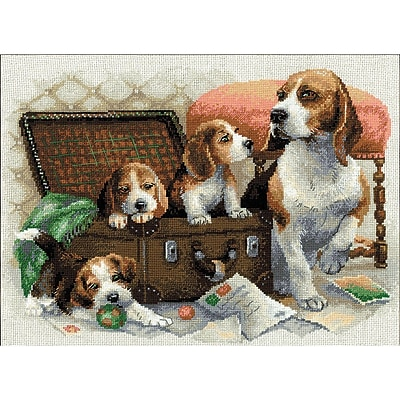 RIOLIS Canine Family Counted Cross Stitch Kit 1437132