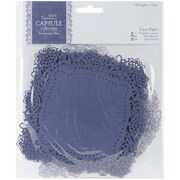 Docrafts® Papermania Die-Cut Lace Paper Set, Parisienne Blue, 5 1/2 x 5 1/2