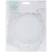 "Docrafts® Papermania Die-Cut Lace Paper Set, Eau De Nil, 5 1/2"" x 5 1/2"""
