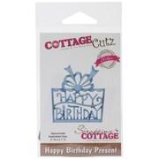 """CottageCutz® Elites Die, Happy Birthday Present, 2"""" x 2.1"""""""