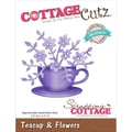 CottageCutz® Petites Die, Teacup & Flowers, 2.5in. x 2.3in.
