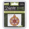 Crafter's Companion Die'sire Christmas Classiques Die, Snowflake Bauble, 2.5in. x 2.05in.