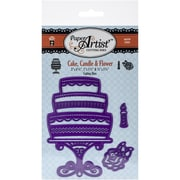 Hot Off The Press Paper Artist™ Cutting Die Set, Cake/Candle & Flower