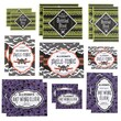 Martha Stewart Gothic Lace Drink Label, Assorted