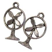 Fabscraps Silver Embellishments, Vintage Industrial Fan