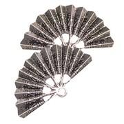 Fabscraps Silver Embellishments, Vintage Fan