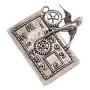 Fabscraps Silver Embellishments, Bird Clock