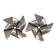 Fabscraps Silver Embellishments, Pinwheels