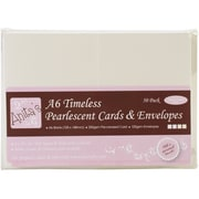 Docrafts® Anita's Pearlescent Cards And Envelopes, A6, Timeless Ivory/Ecru