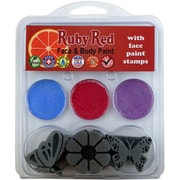 Ruby Red Face Painting Stamp Kit, Butterfly
