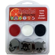 Ruby Red Face Painting Stamp Kit, Pirate