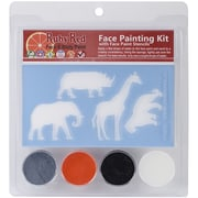 Ruby Red Face Painting Stencil Kit, Zoo