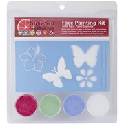 Ruby Red Face Painting Stencil Kit, Butterfly