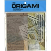 "Aitoh Origami Paper, 6"" x 6"", Writing Theme"