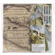 Aitoh Origami Paper, 6 x 6, Travel Theme