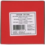 Aitoh Origami Paper, 4 1/2 x 4 1/2, 18 Colors