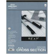 "Pro Art Cross Section Pad, 8 1/2"" x 11"" - 8 x 8 Grid"