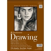 "Strathmore® 80 lbs. Medium Surface Drawing Paper, 9"" x 12"", Cream"