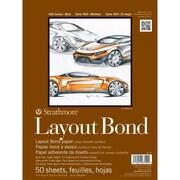 "Strathmore® 16 lbs. Layout Bond Paper Pad, 9"" x 12"", Bright white"