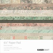 "Kaisercraft Paper Pad, Rustic Harmony, 6 1/2"" x 6 1/2"""
