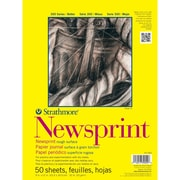 "Strathmore® 32 lbs. Smooth Newsprint Paper Pad, 18"" x 24"""