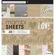 "Me & My Big Ideas Mambi Paper Pad, Gold Rush, 12"" x 12"""