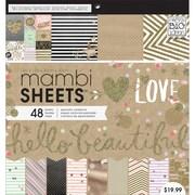 Me & My Big Ideas Mambi Paper Pad, Gold Rush, 12 x 12