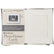 "Strathmore® Photo Frame Cutout Window Cards & Envelopes, 5"" x 7"", White"