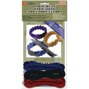 Pepperell 550 Super Value Parachute Cord Pack, Red/Black/Blue