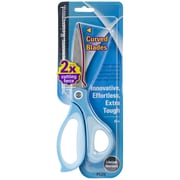 "Plus Corporation 8"" All-Purpose Curved Blade Scissors, Blue"