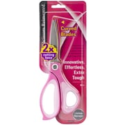 "Plus Corporation 8"" All-Purpose Curved Blade Scissors, Pink"