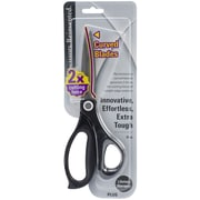 "Plus Corporation 8"" All-Purpose Curved Blade Scissors, Black"