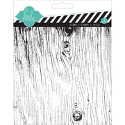 "American Crafts™ Heidi Swapp Clear Stamp, 5.5"" x 5.5"", Woodgrain"