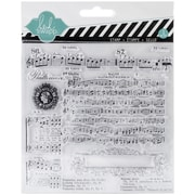 "American Crafts™ Heidi Swapp Clear Stamp, 5.5"" x 5.5"", Music Notes"