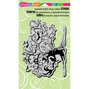 "Stampendous® Halloween Cling Rubber Stamp Sheet, 4"" x 6"", Twisted Tree"