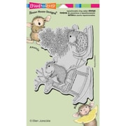 "Stampendous® House Mouse Cling Rubber Stamp Sheet, 4 1/2"" x 7 3/4"", Rockin' Ride"