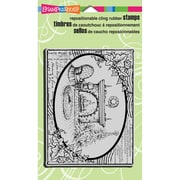 "Stampendous® Christmas Cling Rubber Stamp Sheet, 4"" x 6"", Fireside Ivy"