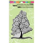 "Stampendous® Christmas Cling Rubber Stamp Sheet, 4"" x 6"", Snowflake Tree"