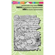 "Stampendous® Christmas Cling Rubber Stamp Sheet, 4"" x 6"", Santa Collage"