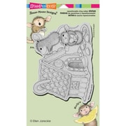 "Stampendous® House Mouse Cling Rubber Stamp Sheet, 4 1/2"" x 7 3/4"", Gingerbread House"
