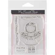 "My Favorite Things Pure Innocence Stamps Sheet, 3"" x 4"", Happy Banner"