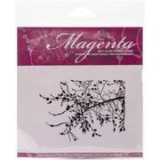 Magenta Cling Stamp, 2 3/4 x 3 3/4, Bushy Branch