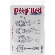 "Deep Red Stamps Rubber Stamp, 4"" x 6"", City Girls Winter Time"